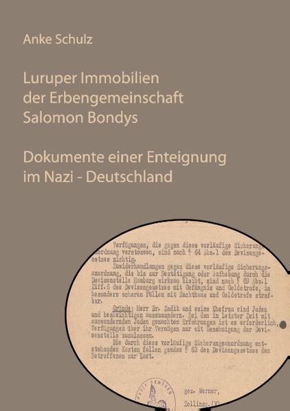 Luruper Immobilien der Erbengemeinschaft Salomon Bondys als Buch