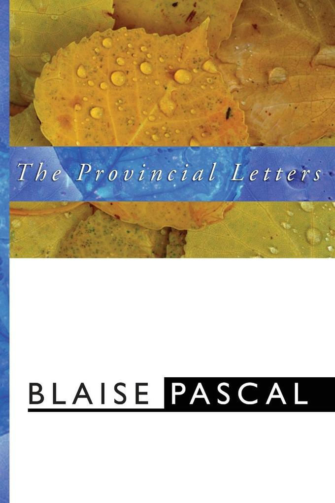 The Provincial Letters als Taschenbuch