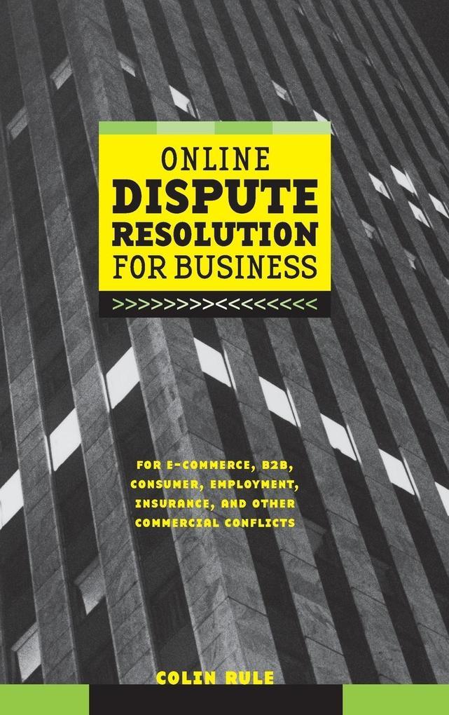 Online Dispute Resolution for Business als Buch