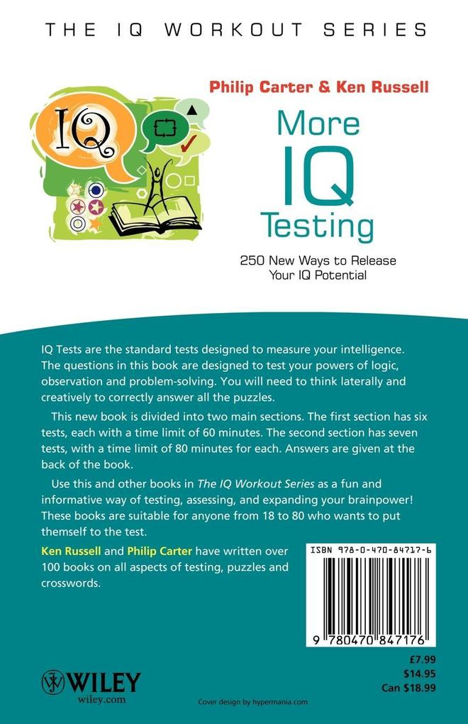 More IQ Testing: 250 New Ways to Release Your IQ Potential als Buch