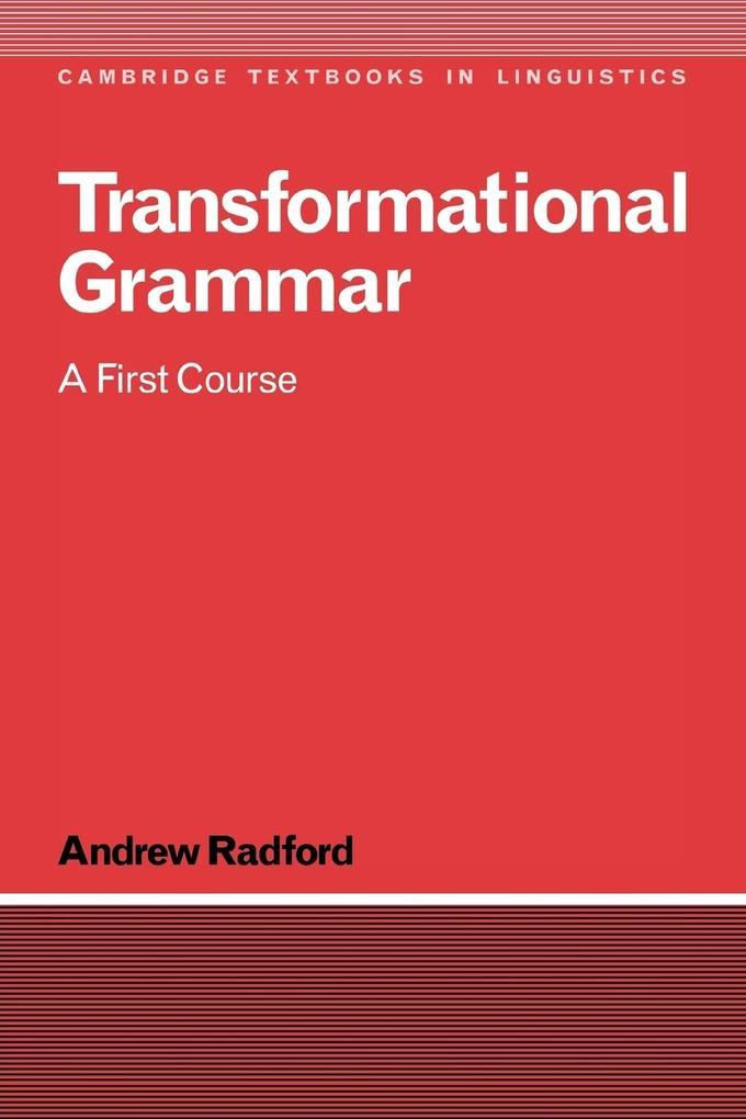 Transformational Grammar als Buch