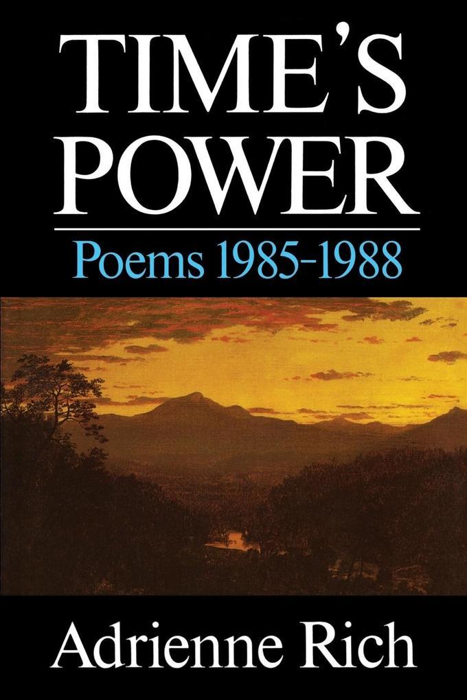Time's Power: Poems 1985-1988 als Taschenbuch