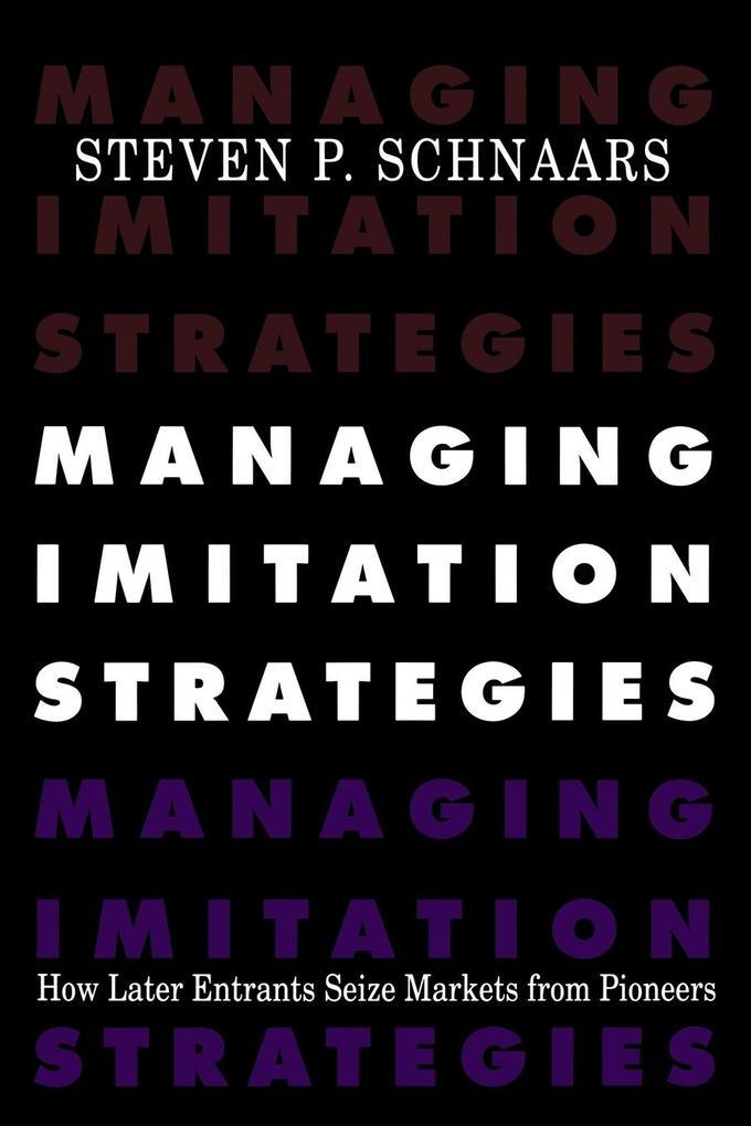 Managing Imitation Strategies als Taschenbuch