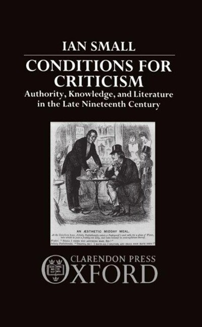 Conditions for Criticism als Buch