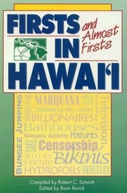 Firsts and Almost Firsts in Hawaii als Taschenbuch