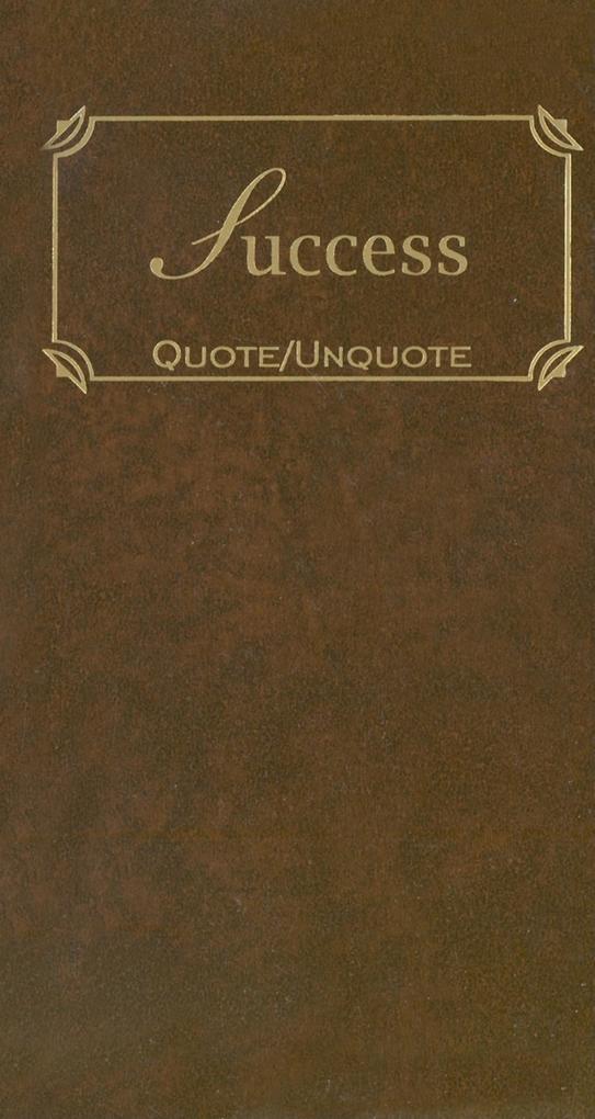 Success: Quote/Unquote als Buch