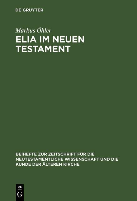 Elia im Neuen Testament als eBook