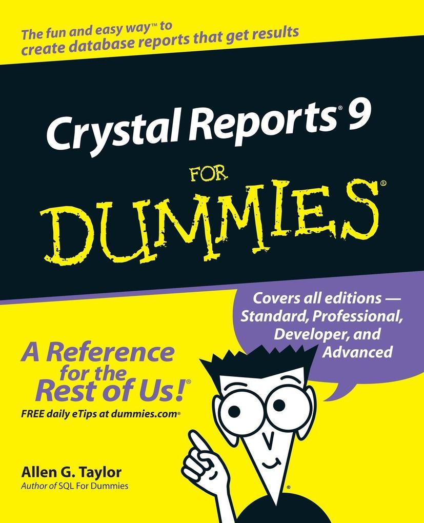 Crystal Reports 9 for Dummies als Buch