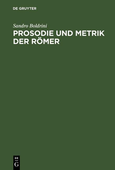 Prosodie und Metrik der Römer als eBook