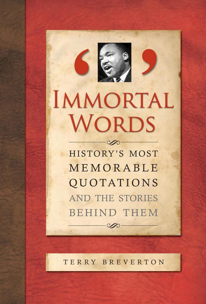 Immortal Words als eBook von Terry Breverton