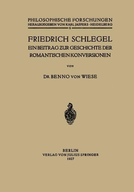 Friedrich Schlegel als Buch