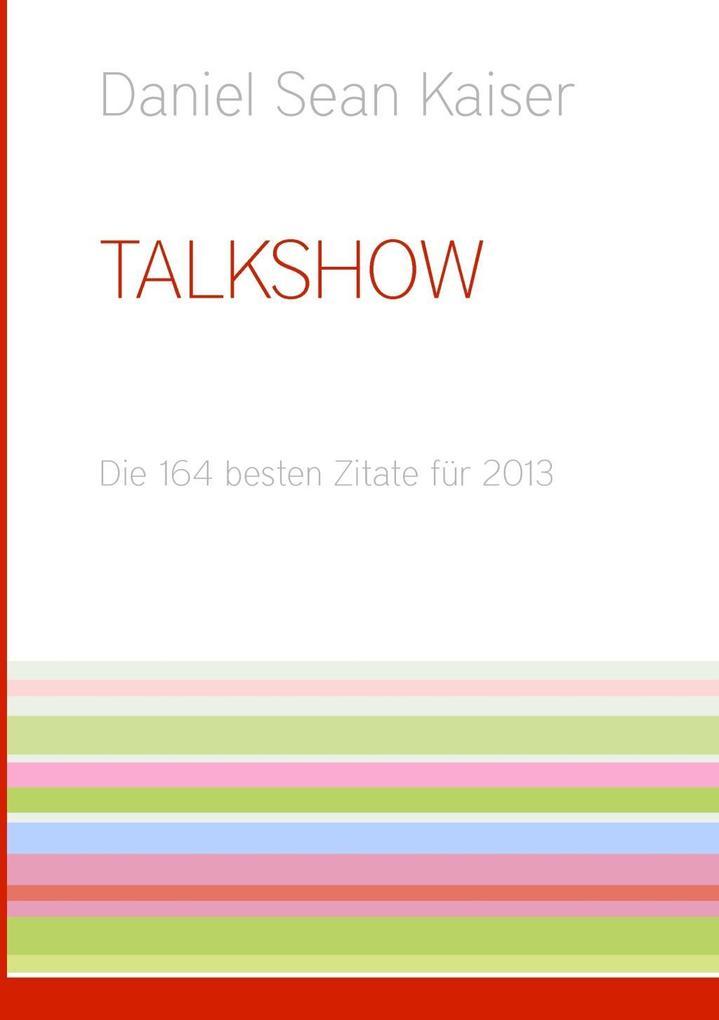 Talkshow als eBook