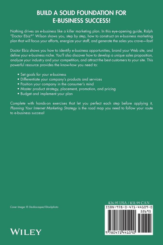 Planning Your Internet Marketing Strategy als Buch