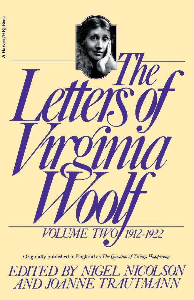 The Letters of Virginia Woolf: Volume II: 1912-1922 als Taschenbuch