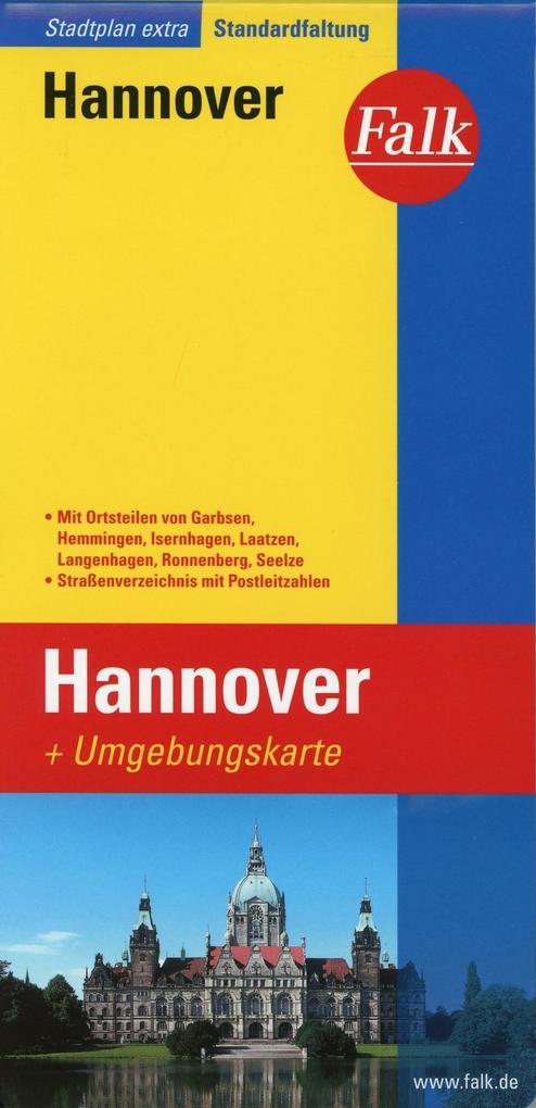 Falk Stadtplan Extra Standardfaltung Hannover 1 : 20 000 als Buch