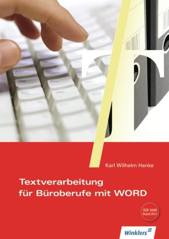 Textverarbeitung für Büroberufe mit Word 2000 als Buch