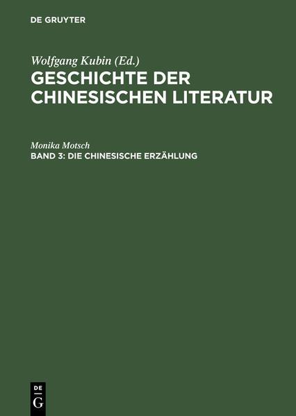 Die chinesische Erzählung als Buch