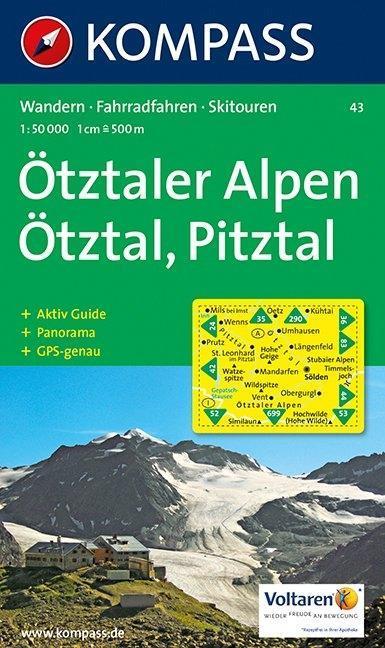 Ötztaler Alpen / Ötztal / Pitztal 1 : 50 000 als Buch
