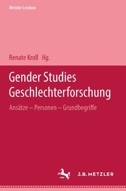 Metzler Lexikon Gender Studies-Geschlechterforschung als Buch