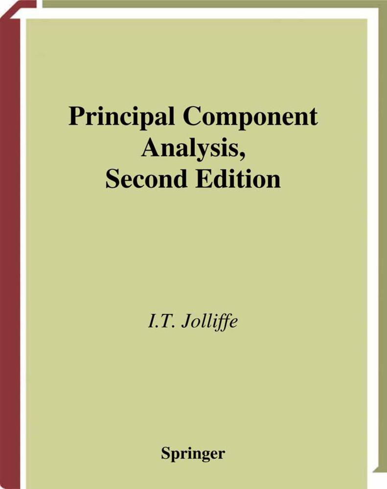 Principal Component Analysis als Buch