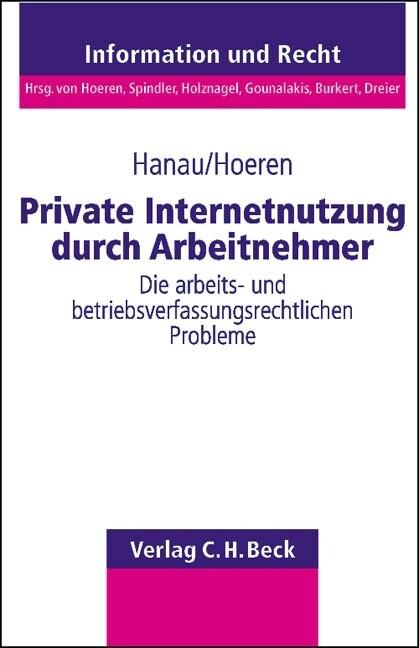 Private Nutzung von Internet-Anschlüssen durch Arbeitnehmer als Buch