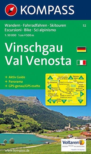 Vinschgau, Val Venosta 1 : 50 000 als Buch