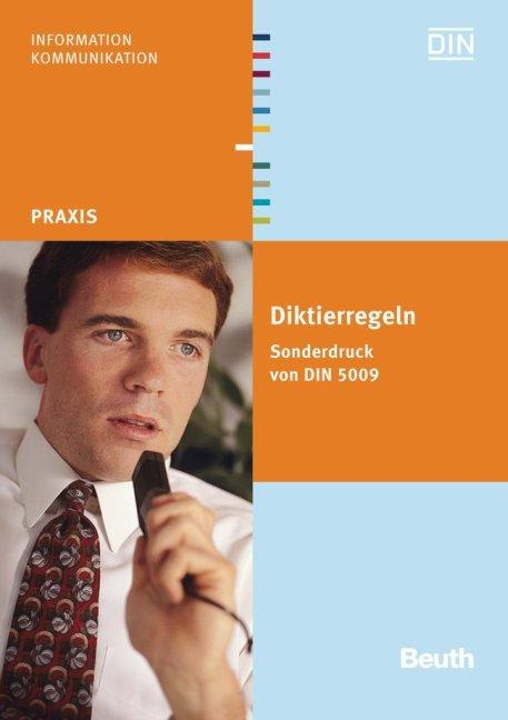 Diktierregeln, Sonderdruck von DIN 5009 als Buch