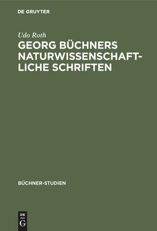 Georg Büchners naturwissenschaftliche Schriften als Buch