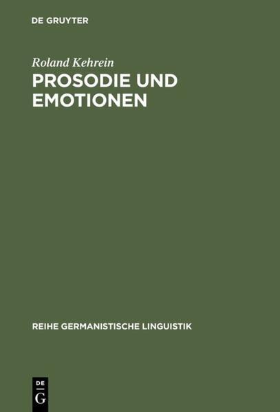 Prosodie und Emotionen als Buch
