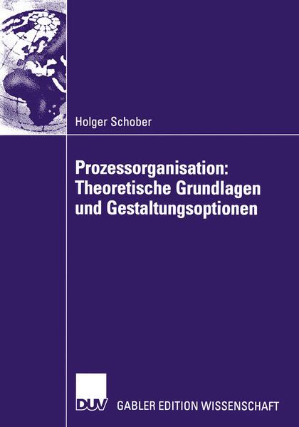 Prozessorganisation: Theoretische Grundlagen und Gestaltungsoptionen als Buch
