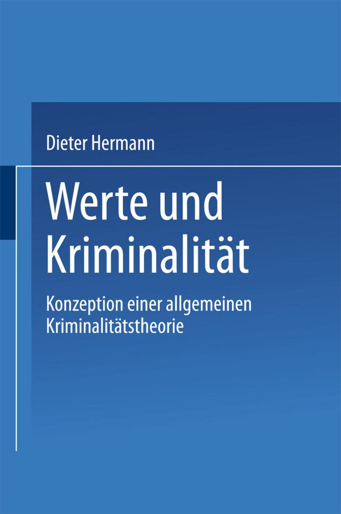 Werte und Kriminalität als Buch