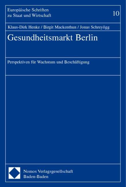 Gesundheitsmarkt Berlin als Buch