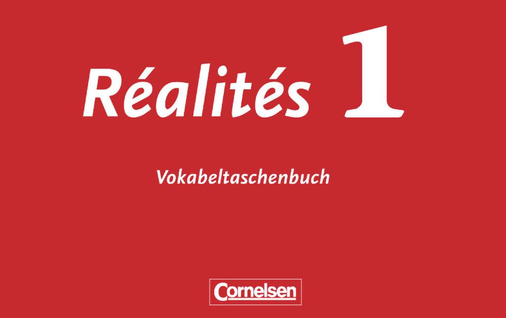 Realites 1. Nouvelle Edition. Vocabulaire als Buch