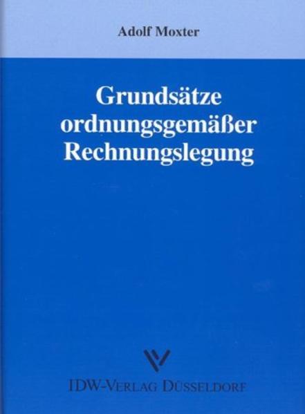 Grundsätze ordnungsmäßiger Rechnungslegung als Buch