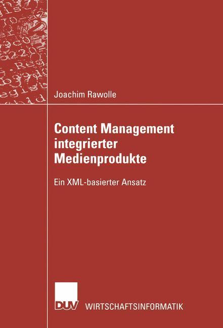 Content Management integrierter Medienprodukte als Buch