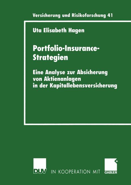 Portfolio-Insurance-Strategien als Buch