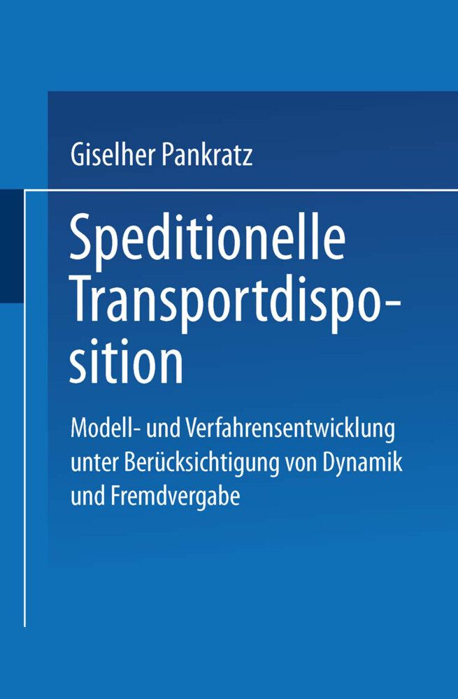 Speditionelle Transportdisposition als Buch