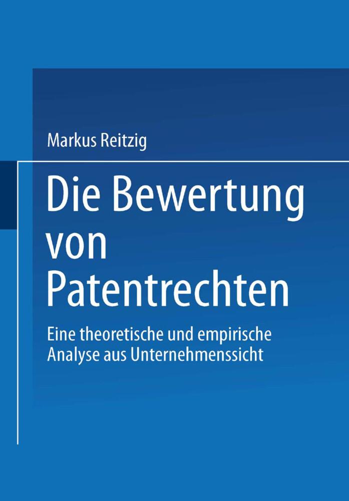 Die Bewertung von Patentrechten als Buch