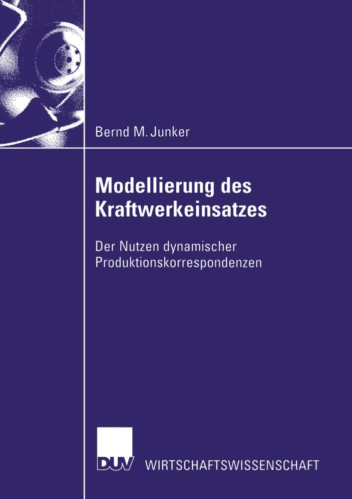 Modellierung des Kraftwerkeinsatzes als Buch