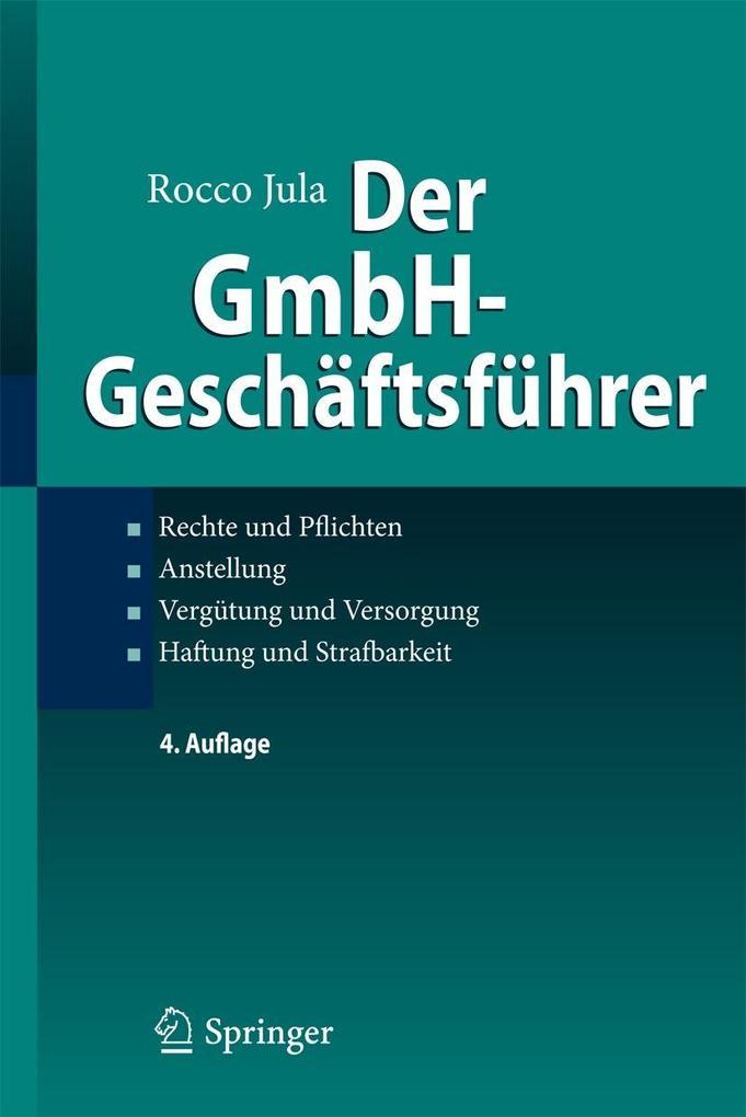 Der GmbH-Geschäftsführer als eBook pdf