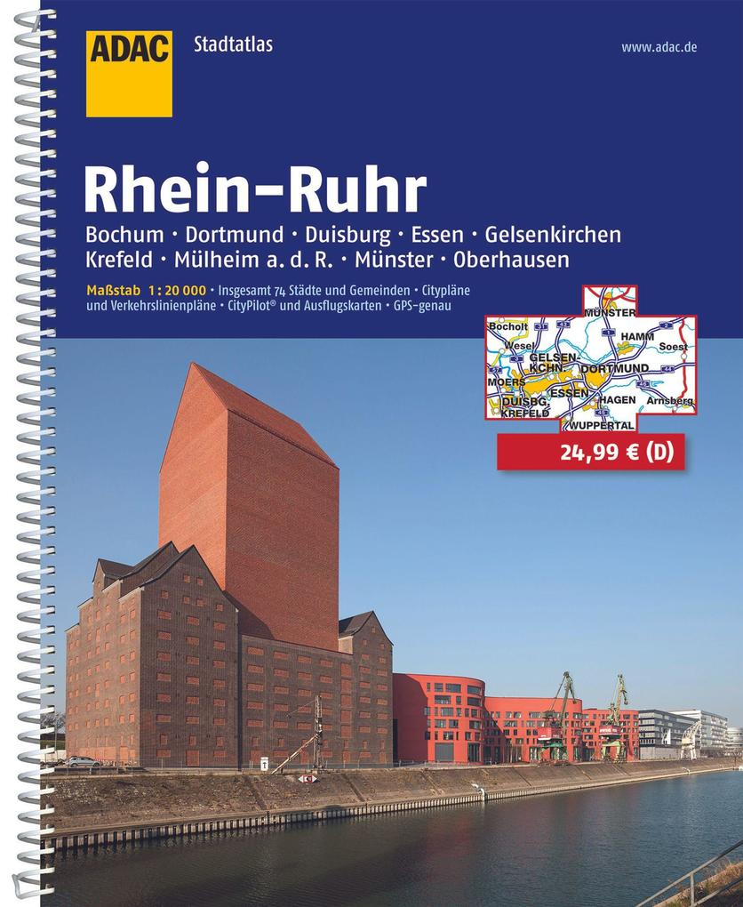 ADAC StadtAtlas Rhein-Ruhr 1 : 20 000 als Buch