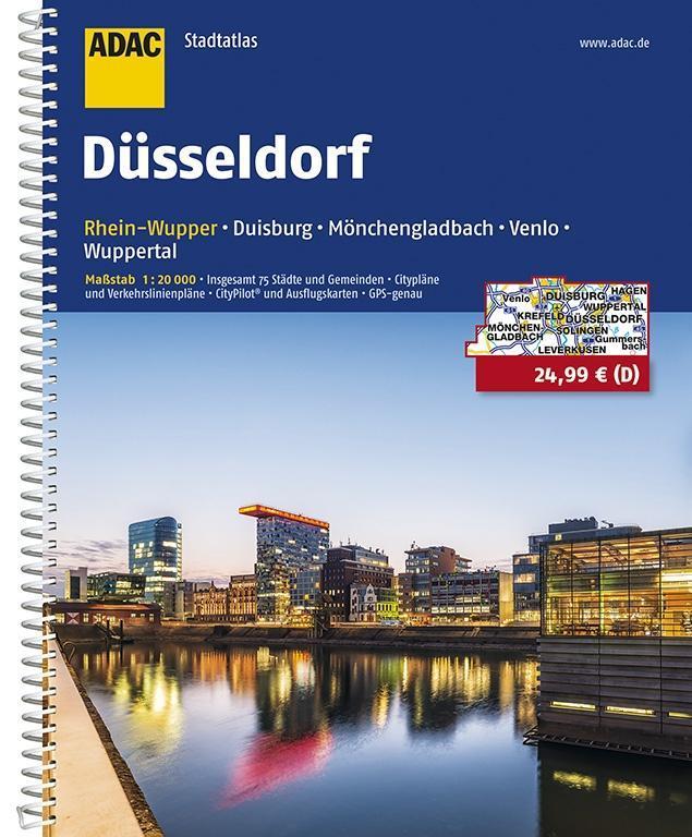 ADAC Stadtatlas Düsseldorf/Rhein-Wupper mit Duisburg, Mönchengladbach, Venlo 1 : 20 000 als Buch