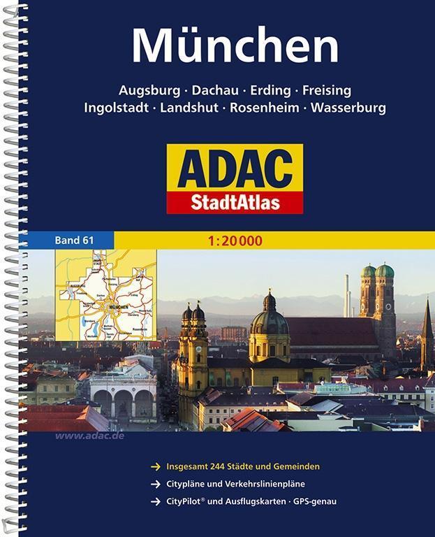 ADAC StadtAtlas Großraum München / Augsburg / Ingolstadt 1 : 20 000 als Buch