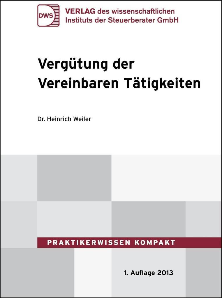 Vergütung der Vereinbaren Tätigkeiten als eBook