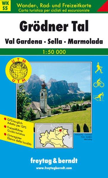 Südtirol 05 Grödner Tal, Val Gardena. Sella, Marmolada 1 : 50 000 als Buch