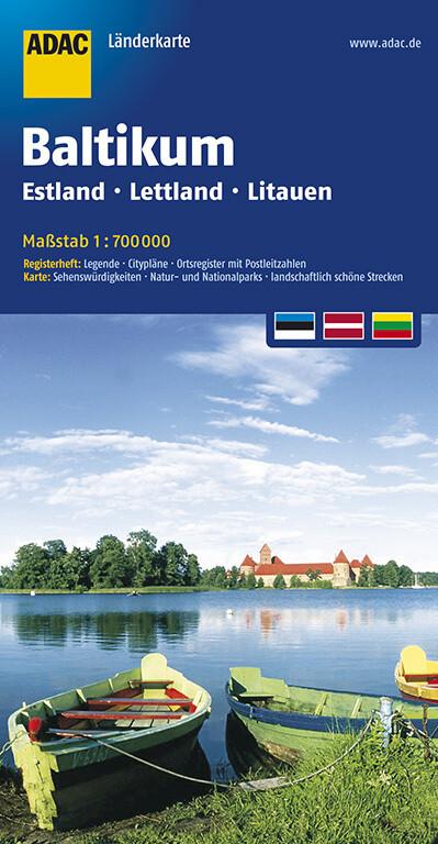 ADAC LänderKarte Baltikum, Estland, Lettland, Litauen 1:700 000 als Blätter und Karten