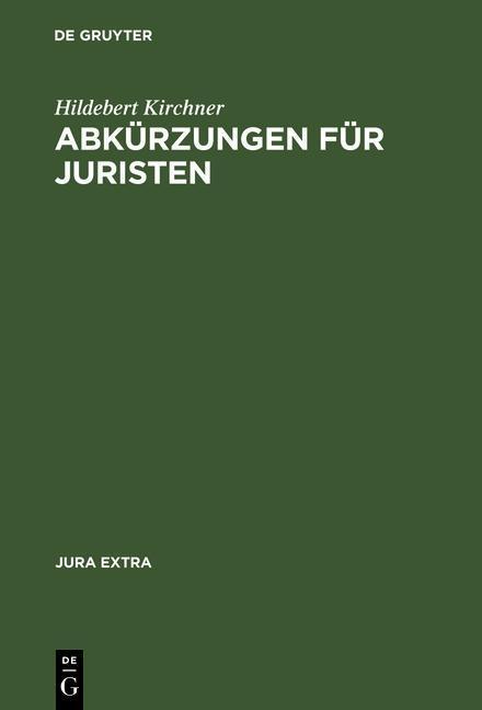 Abkürzungen für Juristen als eBook