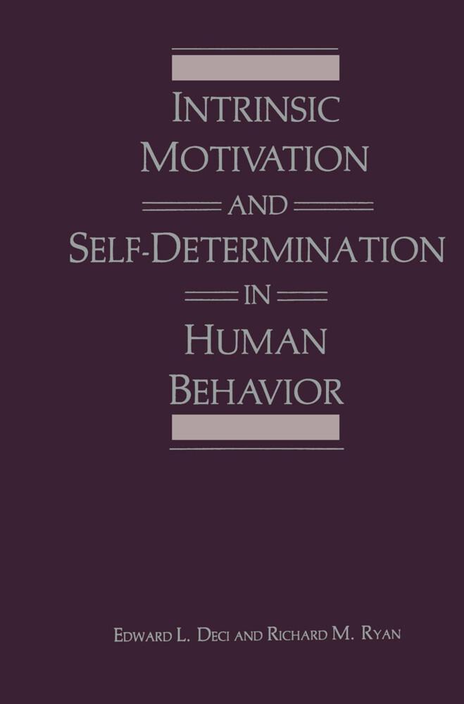 Intrinsic Motivation and Self-Determination in Human Behavior als Buch