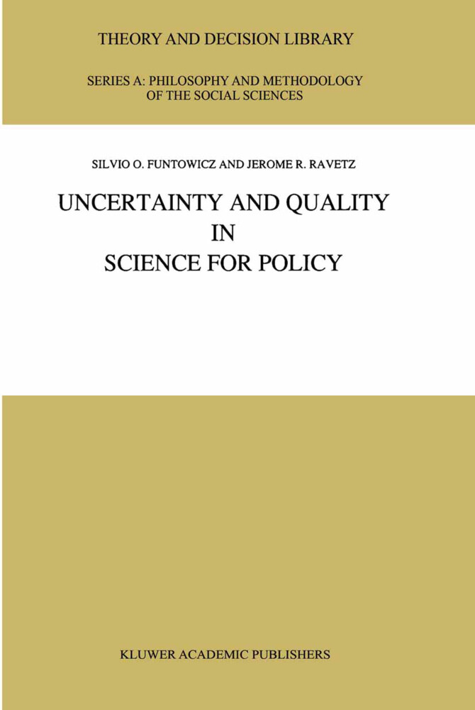 Uncertainty and Quality in Science for Policy als Buch