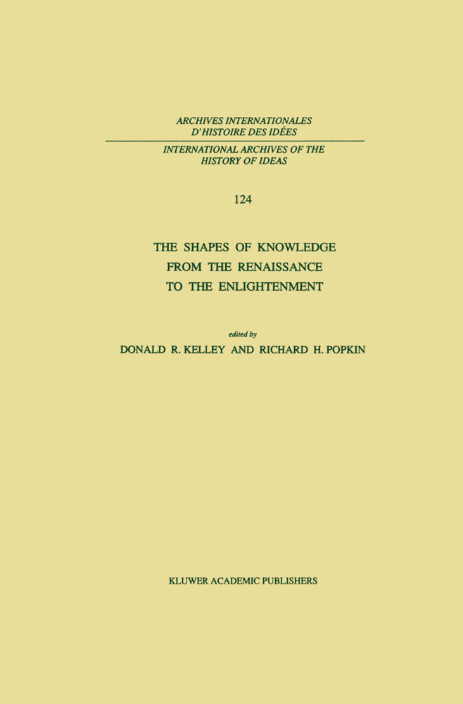 The Shapes of Knowledge from the Renaissance to the Enlightenment als Buch